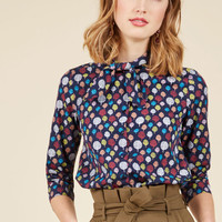 Gotta Take Office Top in Trees | Mod Retro Vintage Long Sleeve Shirts | ModCloth.com
