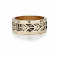Aztec Engraved Band Ring - Mens Jewelry - Shoes and Accessories - TOPMAN USA