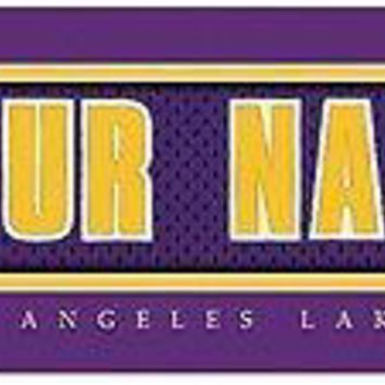 Basketball-NBA Jersey Stitch Print Los Angeles Lakers Personalized NEW
