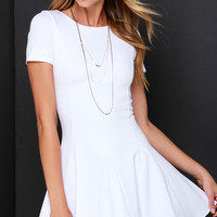 Endless Possibilities Ivory Skater Dress