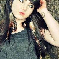 Extra Long Feather Earrings - Asymmetrical Feather Earrings, Brown and Black Feathers - Gypsy Princess