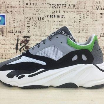 DCCKL8A Jacklish Adidas Yeezy Wave Runner 700 Sand/green For Sale