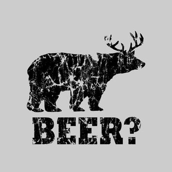 Funny beer t shirt bear deer t shirt redneck hunter by foultshirts