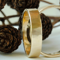 4mm 18k Gold Band, Right Hand Ring by DalkullanJewelry on Etsy