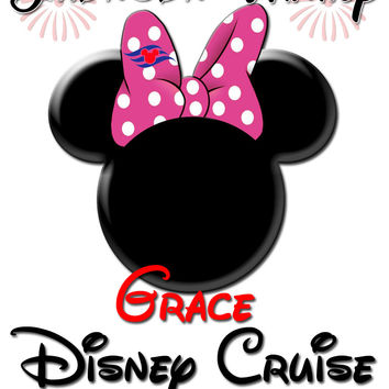 Personalized Family Vacation Disney Cruise Shirts T-shirt Mickey Minnie Cute! #4