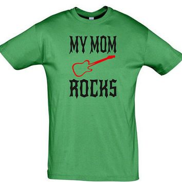My mom rocks men t shirt,women t shirt,birthday gift,mothers day gift,mom t shirt,gift for mom,mom t shirt,mom gift,mom birthday gift,