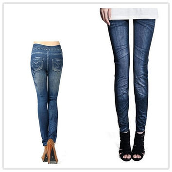 Fashion Hot Sale Womens Ladys Denim Jeans Sexy Skinny Jeggings Leggings Tights Stretch Pants Trousers New = 1930019844