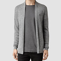 Mens Rosso Cardigan (Light Grey Marl) | ALLSAINTS.com