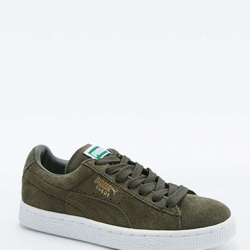 Puma Classic+ Khaki Suede Trainers - Urban Outfitters