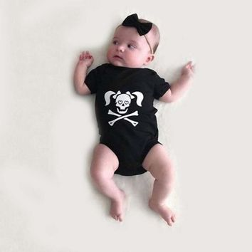 Stylish Toddler Infants Baby Boys Girls Clothes Skull Print Romper Halloween Costume Outfits Children's Clothing Babies Cloth