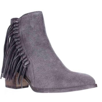 Kenneth Cole REACTION Rotini Side Fringe Ankle Boots, Putty, 5 US / 35 EU