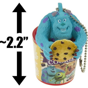 "Sulley & Raisins Cookies (~2.2""): Monsters Inc / Pixar ""Pop Snack"" Mascot Mini-Figure Charm - NOT EDIBLE [#2] (Japanese Import)"