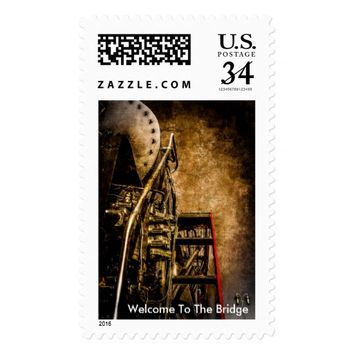 Vintage Steam Train - Welcome To The Bridge Postage