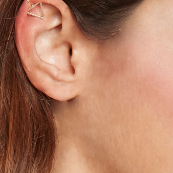 Cutout Triangle Ear Cuff Set