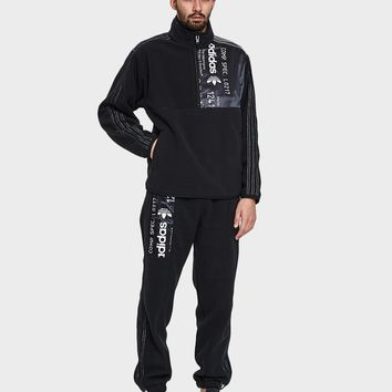 Adidas x Alexander Wang / AW Polar Half Zip in Black