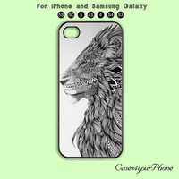 Lion,iPhone 5 case, iPhone 5C Case, iPhone 5S , Phone case,iPhone 4 Case, iPhone 4S Case,Samsung Galaxy S3, S4