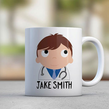 Doctor Gift - Male Doctor - Personalized Mugs - Medical - Health - Stethoscope - Hospital