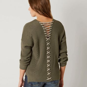 EN CRÈME RIBBED SWEATER