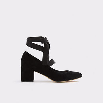Wunderly Black Suede Women's Heels | ALDO US