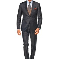 Suit Dark Grey Plain Napoli P3755i | Suitsupply Online Store