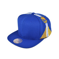 Mitchell & Ness Golden State Blank Front Jersey Snapback Blue