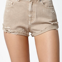 Kendall & Kylie Mojave Ripped High Rise Side Tack Denim Shorts at PacSun.com