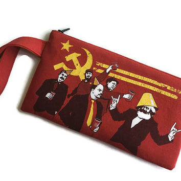 Communist Bag Communist Party Clutch Upcycled Tshirt Bag