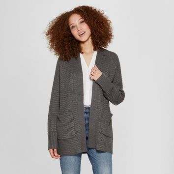 Women's Textured Open Layering Cardigan Sweater - A New Day™