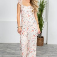 Southern Floral Ivory Jumpsuit