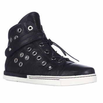 Stuart Weitzman Cyclist High-Top Casual Sneakers - Ink