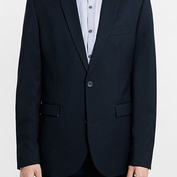 Men's Topman Navy Slim Fit Suit Jacket,