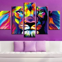 Lion Abstract Color
