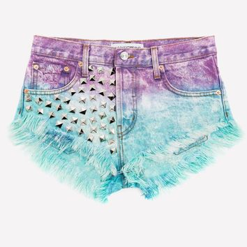 Jolie Galaxy Ombre Studded Babe Shorts
