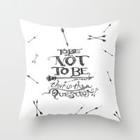 To Be or Not To Be - Hamlet - Shakespeare Throw Pillow by Immortal Longings