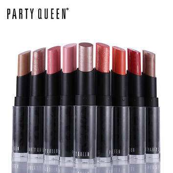 Party Queen Pop Glittery Rose Gold Fruity Lipstick 12 Metallics Creamy Luxury Bold Color Batom Makeup Long Lasting Charmed Lips