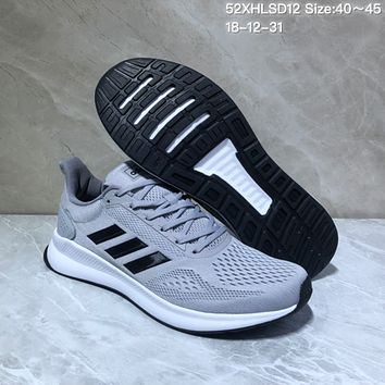 HCXX A542 Adidas Duramo 8 Mesh Fashion Light Running Shoes Gray