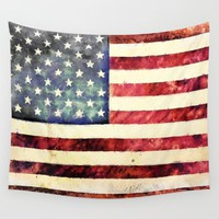 Vintage American Flag Wall Tapestry by Conservative