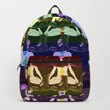 docmartenschakraspattern Backpacks by Kathead Tarot/David Rivera