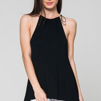 string strap tank with split back