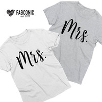 Gift for gay couple, Mrs Mrs shirts, Matching mrs and mrs shirts, Gay couple, Gift for gay couples