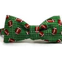 Football bowtie, sport bowtie, football gift, game bowtie, game accessory, football accessory, mens bowtie, football bow tie
