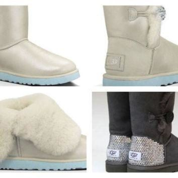 CREY1O Custom UGG Boots made with Swarovski Bailey I Do Free: Shipping, Repair Kit, Cleaning