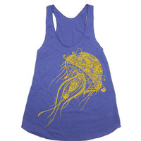 Womens JELLYFISH Racerback Tank - American Apparel tanktop shirt - XS, S, M, and L (9 Color Options)