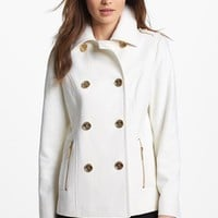 MICHAEL Michael Kors Double Breasted Peacoat | Nordstrom
