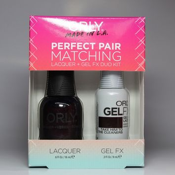ORLY Perfect Pair Nail Polish + Gelfx Duo Kit Take Him to The Cleaners