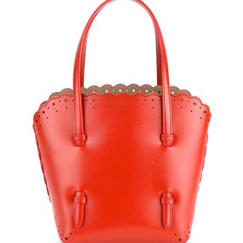 AZZEDINE ALAÏA | Small Perforated Leather Handbag | Womenswear | Browns Fashion