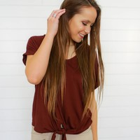 Autumn Accents Top - Wine