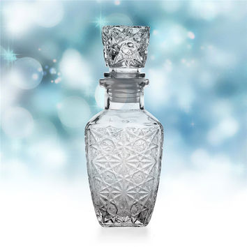 High Quality Glass Whiskey Liquor Wine Drinks Decanter 200ml Crystal Bottle Wine Carafe Gift