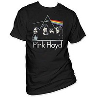 PINK FLOYD DARK SIDE ON THE MOON WITH BAND MENS TEE