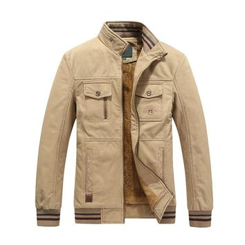 Military Style Jacket with inner fleece